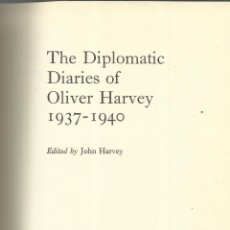 Libros de segunda mano - LIBRO EN INGLÉS. THE DIPLOMATIC DIARIES OF OLIVER HARVEY. COLLINS. LONDRES. 1970 - 40501654