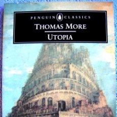 Libros de segunda mano: UTOPIA - THOMAS MORE. PENGUIN CLASSICS ( EN INGLES ). 1965.. Lote 41555990