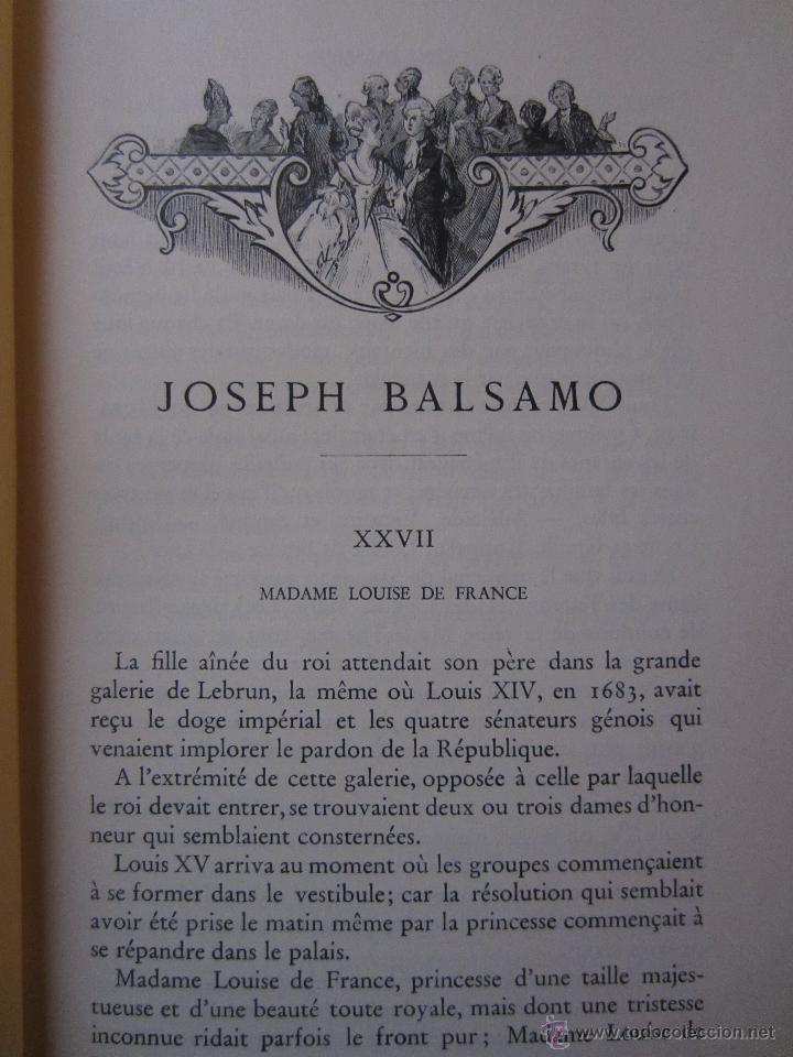 Libros de segunda mano: JOSEPH BALSAMO- MEMOIRES DÚN MEDECIN (TOMO II)-ALEXANDRE DUMAS-LOUIS CONARD -PARIS-1940 - Foto 3 - 42756132