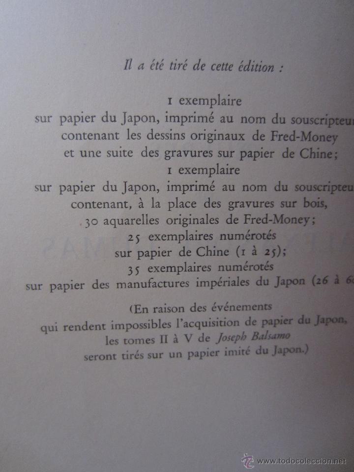 Libros de segunda mano: JOSEPH BALSAMO- MEMOIRES DÚN MEDECIN (TOMO II)-ALEXANDRE DUMAS-LOUIS CONARD -PARIS-1940 - Foto 4 - 42756132