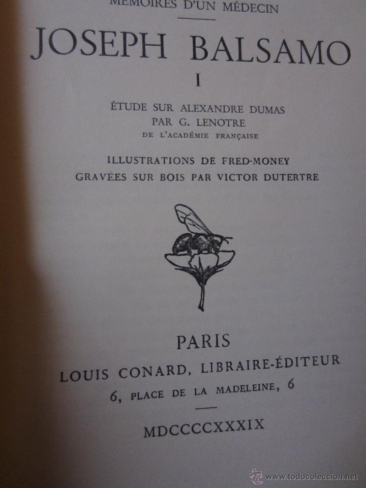 Libros de segunda mano: JOSEPH BALSAMO- MEMOIRES DÚN MEDECIN (TOMO I)-ALEXANDRE DUMAS-LOUIS CONARD -PARIS-1939 - Foto 2 - 42756309
