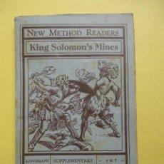 Libros de segunda mano: NEW METHOD READERS. KING SOLOMON´S MINES. Lote 43364080