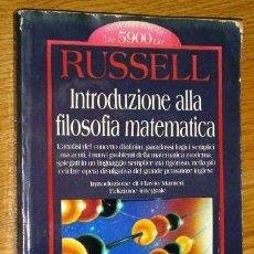 Libros de segunda mano - Introduzione alla filosofia matematica por Bertrand Russell de Grandi Tascabili Economici Milán 1997 - 43442854