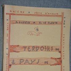 Libros de segunda mano: TERROIRS DU PAYS DE GUERANDE GUERIFF 1961. Lote 43562830