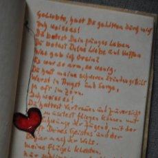 Libros de segunda mano: CURIOSA LIBRETA MANUSCRITA CON POSIBLE POESIA DE 1977 EN ALEMAN . Lote 43566111