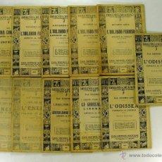 Libros de segunda mano: LOTE BIBLIOTECA DEL POPOLO 11 TOMOS 1934 (EN ITALIANO). Lote 43987312