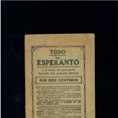 Libros de segunda mano: TODO EL ESPERANTO POR 10 CENTIMOS. HIJOS DE SANTIAGO RODRIGUEZ-BURGOS.. Lote 45815058