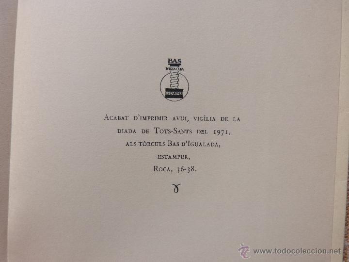 Libros de segunda mano: Els moviments obrers a Igualada durant el Segle XIX, Antoni Carner, Igualada, año 1971, En Catalán - Foto 7 - 46997332