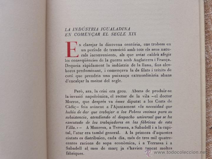 Libros de segunda mano: Els moviments obrers a Igualada durant el Segle XIX, Antoni Carner, Igualada, año 1971, En Catalán - Foto 8 - 46997332