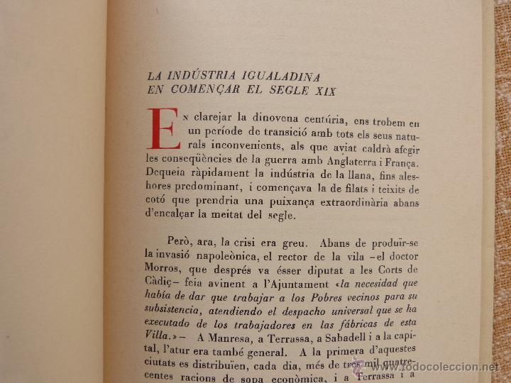 Libros de segunda mano: Els moviments obrers a Igualada durant el Segle XIX, Antonio Carner, Igualada, año 1971, En Catalán - Foto 7 - 47016337