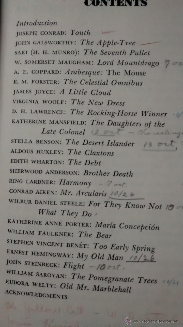 Libros de segunda mano: Literatura inglesa y USA. Masters of the Modern Short Story, edited by Walter Havighurst. Harcourt - Foto 2 - 47954975