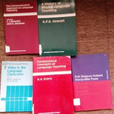 Libros de segunda mano: LOTE 5 LIBROS TEORÍA ENSEÑANZA DEL INGLÉS. ENGLISH LANGUAGE TEACHING.. Lote 48223642