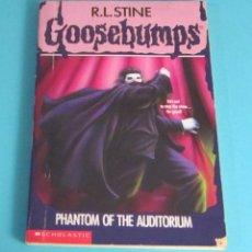 Libros de segunda mano: PHANTOM OF THE AUDITORIUM. R.L. STINE. GOOSEBUMPS Nº 24. EN INGLÉS. Lote 49558415