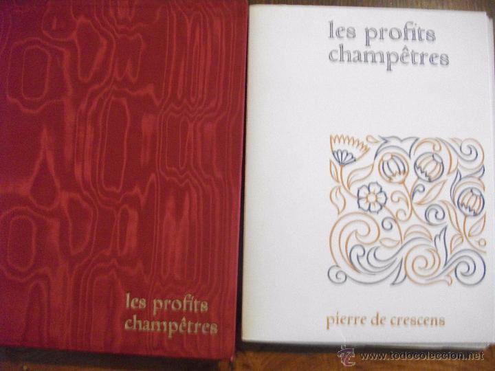 LES PROFITS CHAMPETRES DE PIERRE DE CRESCENTS - GANACIAS DEL CAMPO CON CAJA EN TELA LAMINAS 1965 (Libros de Segunda Mano - Otros Idiomas)