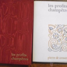 Libros de segunda mano: LES PROFITS CHAMPETRES DE PIERRE DE CRESCENTS - GANACIAS DEL CAMPO CON CAJA EN TELA LAMINAS 1965. Lote 49703271