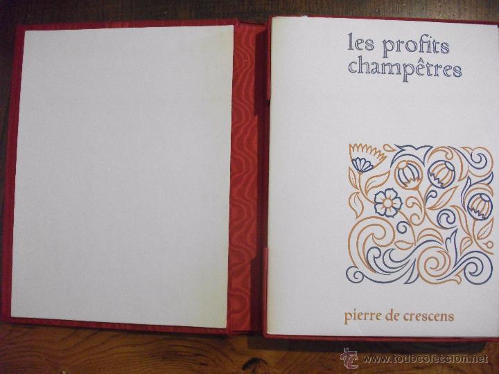 Libros de segunda mano: LES PROFITS CHAMPETRES DE PIERRE DE CRESCENTS - GANACIAS DEL CAMPO CON CAJA EN TELA LAMINAS 1965 - Foto 2 - 49703271