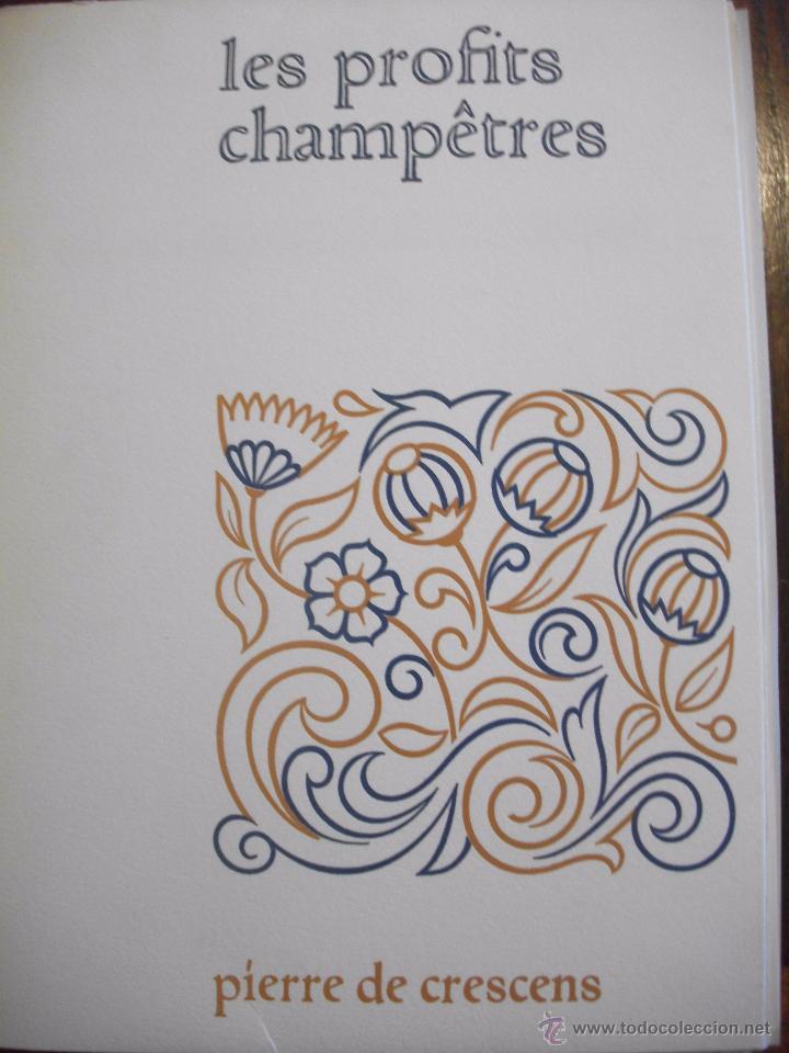 Libros de segunda mano: LES PROFITS CHAMPETRES DE PIERRE DE CRESCENTS - GANACIAS DEL CAMPO CON CAJA EN TELA LAMINAS 1965 - Foto 7 - 49703271
