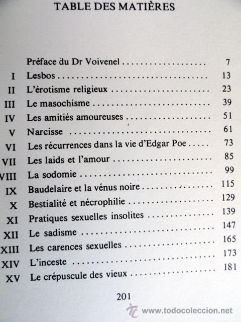 Libros de segunda mano: LA SEXUALITÉ INSOLITE, por GILBERT DUPÉ - Foto 3 - 49970001
