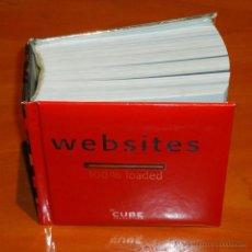 Libros de segunda mano: CUBE COLLECTION - WEBSITES: 100% LOADED - LIBRO. Lote 50424809
