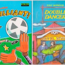 Libros de segunda mano: 'DOUBLE DANGER' [LEVEL 2] & 'BRILLIANT!' [LEVEL 1] (HEINEMANN NEW WAVE READERS, 1991). Lote 51059984