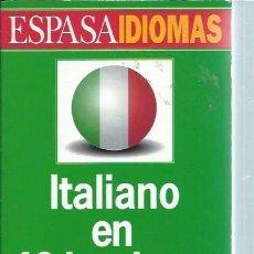 Libros de segunda mano: ESPASA IDIOMAS, ITALIANO EN 40 LECCIONES, ESPASA CALPE MADRID 1966, 300 PÁGS, RÚSTICA, 14X19CM. Lote 81121756