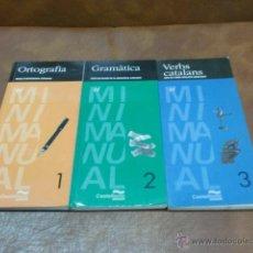 Libros de segunda mano: LOTE 3 LIBROS,ORTOGRAFIA-GRAMÀTICA Y VEBRS CATALANS.-ED. CASTELLNOU. Lote 51244388
