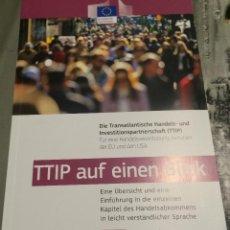 Libros de segunda mano: 'TTIP AUF EINEN BLICK'. LIBRO DE ECONOMÍA EN ALEMÁN. 2015. NUEVO.. Lote 53115857