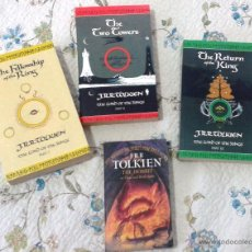 Libros de segunda mano: J.R.R. TOLKIEN: THE LORD OF THE RINGS I-II-III. THE HOBBIT (PACK) HARPER COLLINS. Lote 53683623