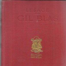 Libros de segunda mano: GIL BLAS. PAR LESAGE. EDITION LUTETIA. TOME PREMIER. PARÍS. Lote 54022237