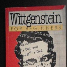 Libros de segunda mano: .1 LIBRO ** LUDWIG WITTGENSTEIN** AÑO 1994 JOHN HEATON (AUTHOR) JUDY GROVES (ILLUSTRATOR) 175 P UK.. Lote 58394796