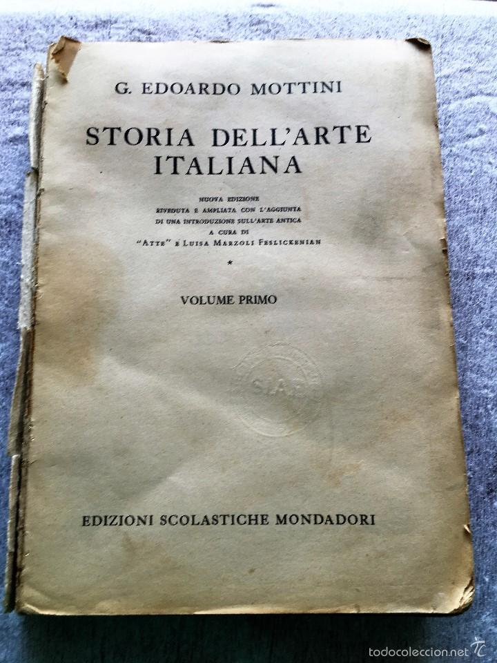 STORIA DELL'ARTE ITALIANO (Libros de Segunda Mano - Otros Idiomas)