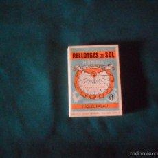 Libros de segunda mano: RELLOTGES DE SOL, HISTORIA. ART DE CONSTRUIR.LOS, BIB POPULAR CATALANA 1977. Lote 57802879
