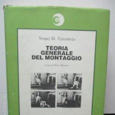 Libros de segunda mano: TEORIA GENERALE DEL MONTAGGIO (ITALIANO) DE SERGEJ M. EJZENSTEJN . Lote 58005614