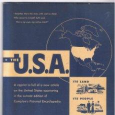 Libros de segunda mano: THE U.S.A. ITS LAND ITS PEOPLE ITS INDUSTRIES F. E. COMPTON & COMPANY 100 PÁGINAS AÑO 1953 MD136. Lote 58504747