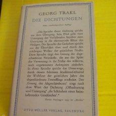 Libros de segunda mano: GEORG TRAKL DIE DICHTUNGEN 1938. POESIA. Lote 58711219