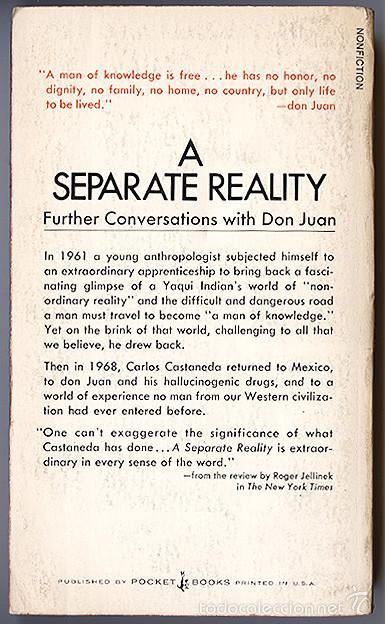 Libros de segunda mano: Carlos Castaneda · A Separate Reality: Further Conversations with Don Juan - Una realidad aparte – - Foto 3 - 60687003