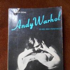 Libros de segunda mano: ANDY WARHOL FILMS AND PAINTINGS 1966. Lote 61772948