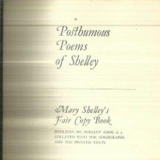 Libros de segunda mano: POSTHUMOUS POEMS OF SHELLEY. MC GILL-QUEENS UNIVERSITY. MONTREAL. 1969. Lote 67235569