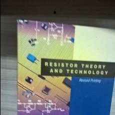 Libros de segunda mano: RESISTOR THEORY AND TECHNOLOGY. BY FELIX ZANDMAN,PAUL-RENE SIMON,JOSEPH SZWARC.2002.INGLES (ENGLISH). Lote 68443161