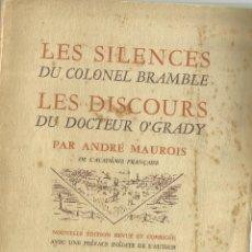 Libros de segunda mano: LES SILENCES DU COLONEL BRAMBLE. MICHEL G. GILBERT. BRENTANOS. 1943. Lote 68723441