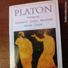 Libros de segunda mano: PROTAGORAS - EUTHYDÈME - GORGIAS - MÉNEXÈNE - MÉNON - CRATYLE. Lote 69084009
