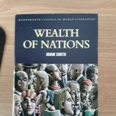 Libros de segunda mano: WEALTH OF NATIONS - ADAM SMITH - WORDSWORTH CLASSICS. Lote 70218853