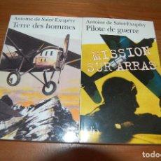 Libros de segunda mano: TERRE DES HOMMES / PILOTE DE GUERRE. ANTOINE DE SAIN-EXUPERY (EN FRANCÉS). Lote 72101399