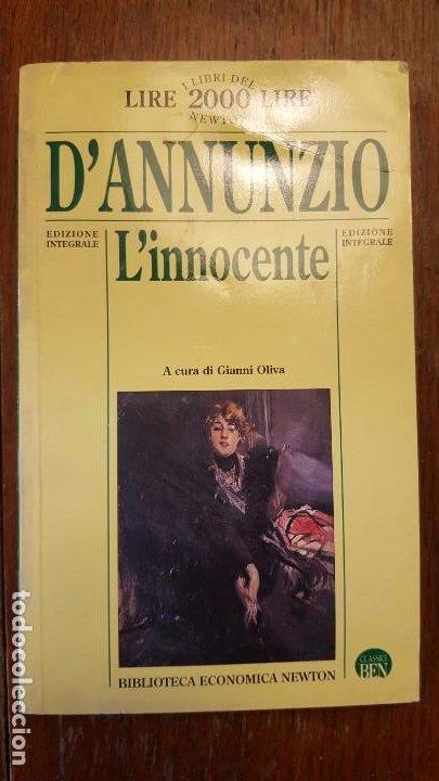 L'INNOCENTE. D'ANNUNZIO. EN ITALIANO. (Libros de Segunda Mano - Otros Idiomas)
