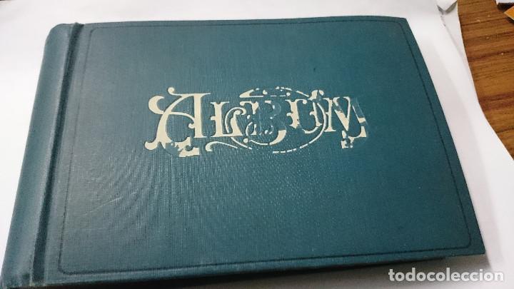 ALBUM ANTIGUO DE POSTALES Y FOTOS VACIO (Libros de Segunda Mano - Otros Idiomas)