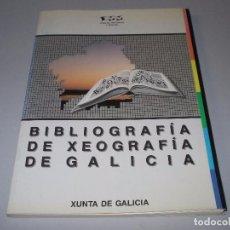 Libros de segunda mano: BIBLIOGRAFÍA DE XEOGRAFÍA DE GALICIA, XUNTA DE GALICIA 1.990. Lote 76540795