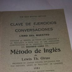 Libros de segunda mano: LIBRO DEL MAESTRO. MÉTODO DE INGLÉS 1951. Lote 77529971