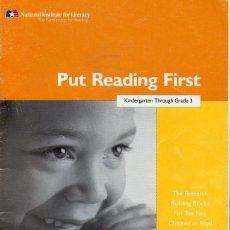 Libros de segunda mano: PUT READING FIRST (BONNIE B. AMBRUSTER). Lote 84763444