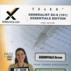 Libros de segunda mano: GENERALIST EC-6 191 ESSENTIALS EDITION (SHARON WYNNE). Lote 84773248
