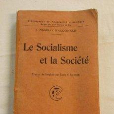 Livros em segunda mão: HOS. LE SOCIALISME ET LA SOCIETE. EDC FLAMMARION. Lote 85007580